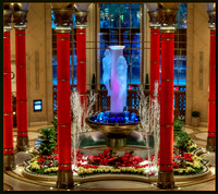 The Plazzo Lobby at Christmas
